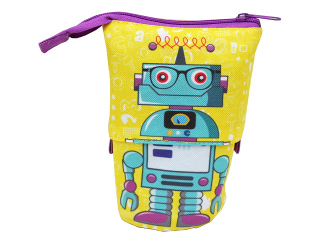 Пенал-стакан Prof Press текстиль Робот в очках ПН-2837