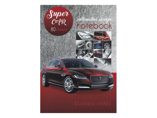 Записная книжка А5 Prof Press тв/переплёт  80л Авто на красно-сером фоне 80-2573