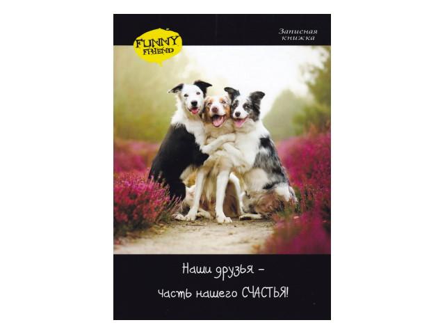 Записная книжка А5 Prof Press тв/переплёт  80л Собаки в обнимку 80-4794