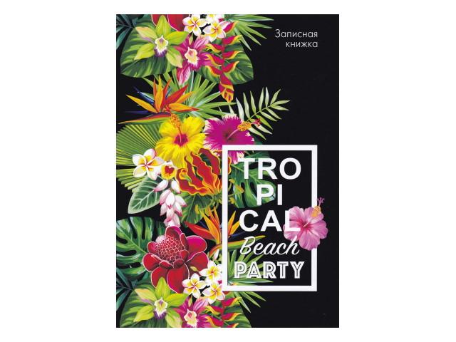Записная книжка А5 Prof Press тв/переплёт  80л Тропические цветы К80-5602