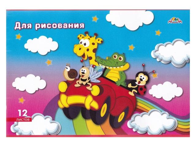 Альбом 12л А4 Апплика на скобах Веселая компания 80 г/м2 С2950-02\50