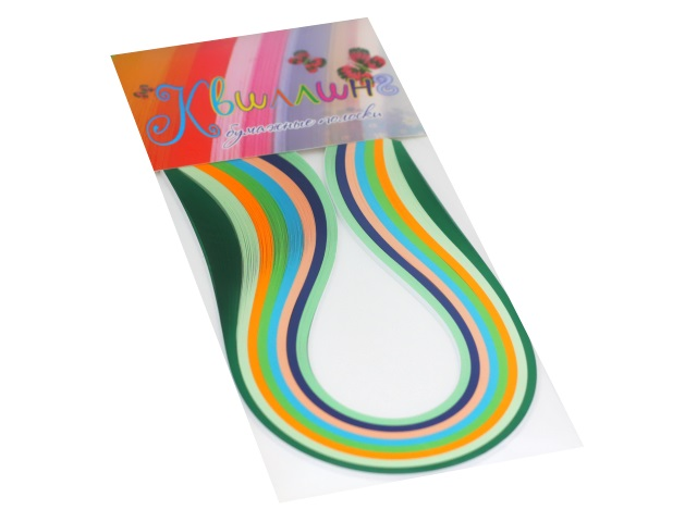 Квиллинг Бумага 250 полос  8 цветов 3*420 мм Everest print №25