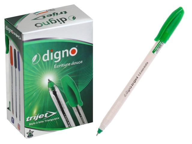 Ручка масляная DignoTrijet зеленая 1.0мм DG-10107з