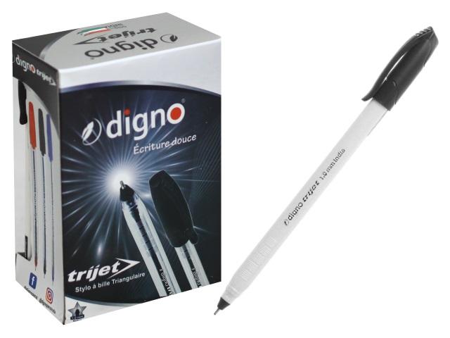 Ручка масляная DignoTrijet черная 1.0мм DG-10107ч