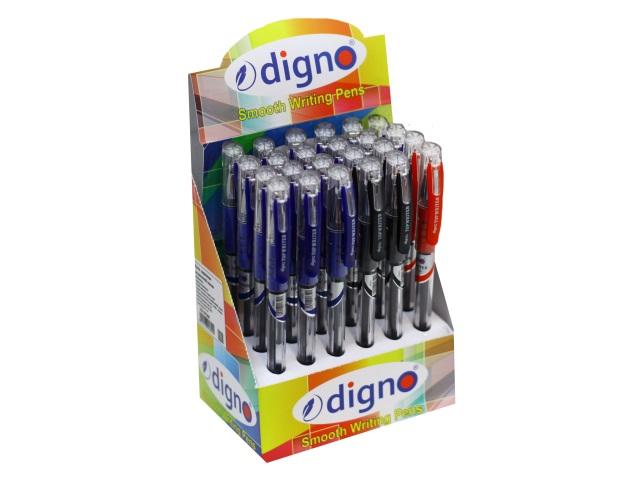 Ручка масляная Digno Topwriter синяя/черная/красная 0.7мм DG-10128A