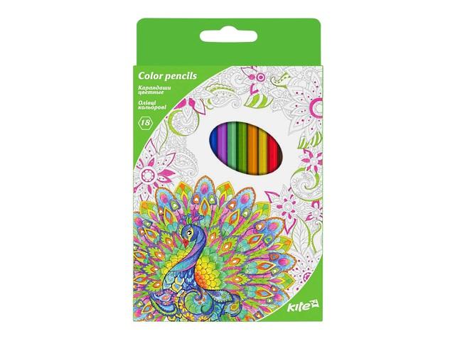 Карандаши цветные 18цв Kite Антистресс шестигранные K17-052-4