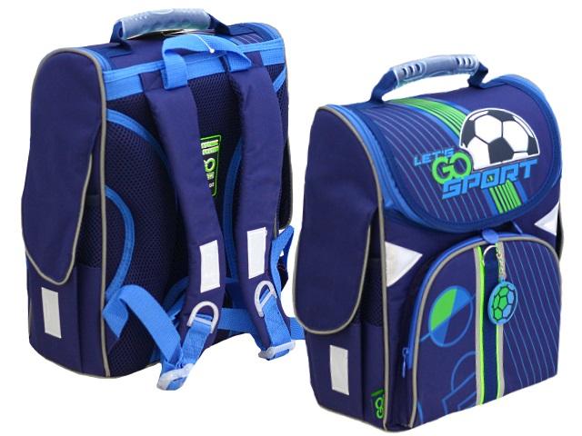 Ранец школьный Kite GoPack Education Football 34*26*13см синий 5001-10