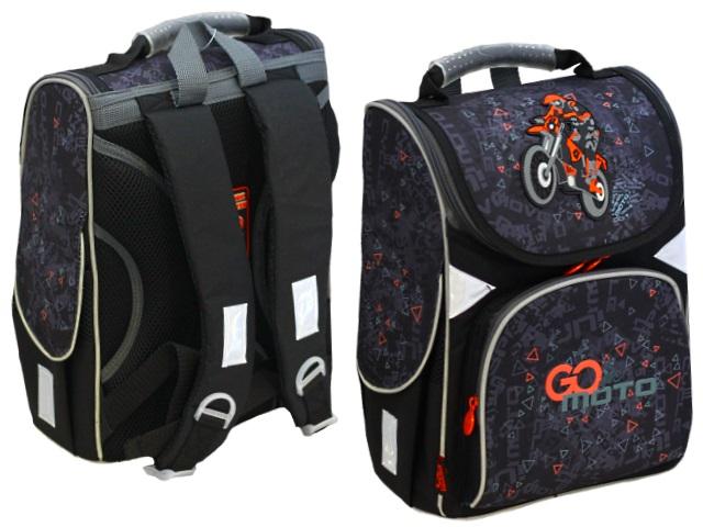 Ранец школьный Kite GoPack Education Go Moto 34*26*13см черный GO20-5001S-11