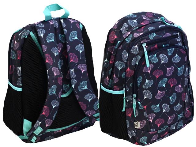 Рюкзак Kite GoPack Education Flowers 42*32*16см серо-бирюзовый GO20-132M-1