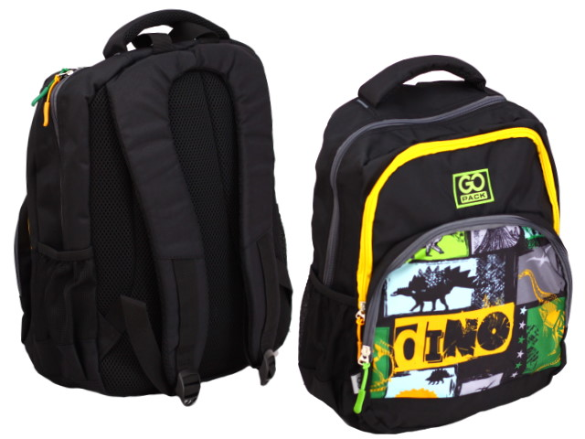 Рюкзак Kite GoPack Education Dino 38*28*18см черный GO20-113M-7