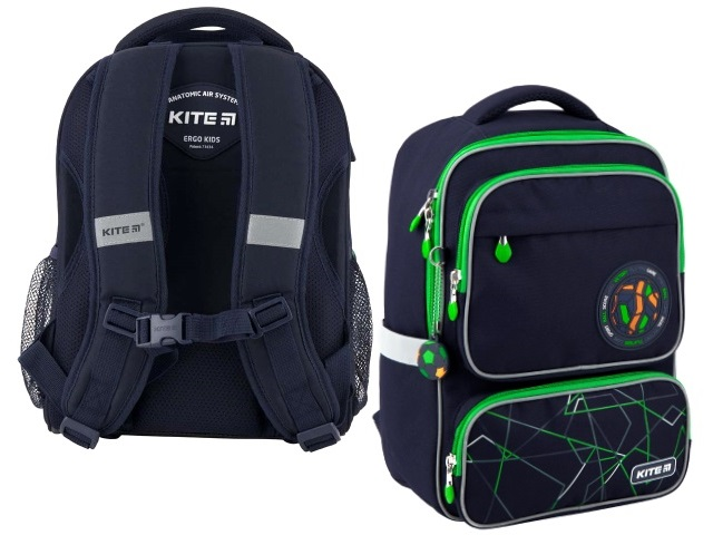 Рюкзак Kite Education Football 38*27.5*13.5см темно-синий K20-779M-1