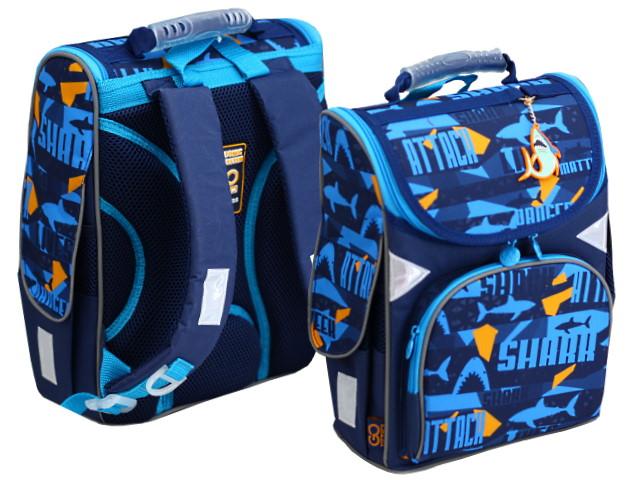 Ранец школьный Kite GoPack Education Shark 34*26*13см синий GO20-5001S-15