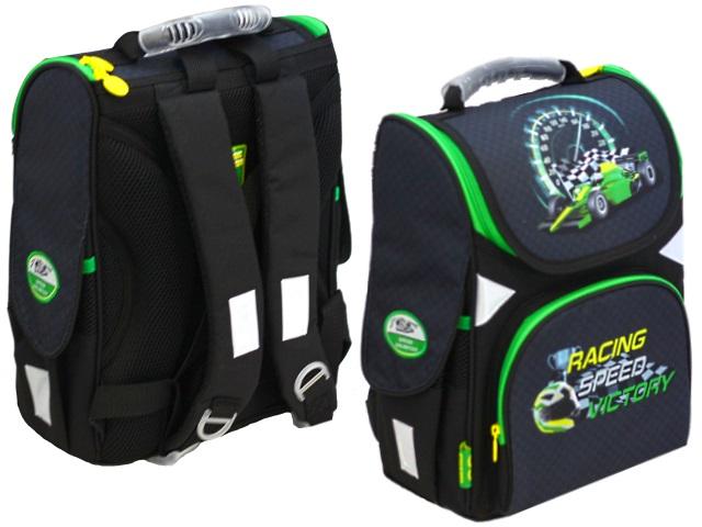 Ранец школьный Kite GoPack Racing Speed Victory 34*26*13см черно-зеленый GO19-5001S-11