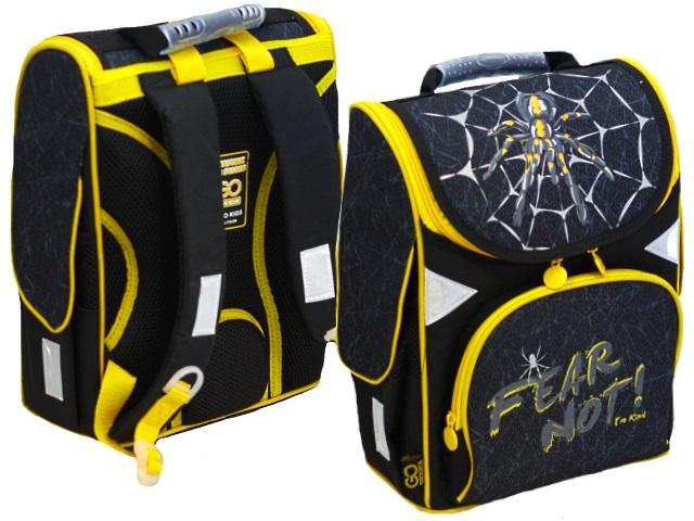 Ранец школьный 2020 Kite GoPack Education Spider 34*26*13см черно-желтый GO20-5001S-9
