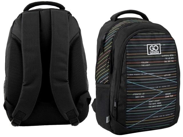 Рюкзак Kite GoPack Education Stripes 43*30*16см черный GO20-133M-2