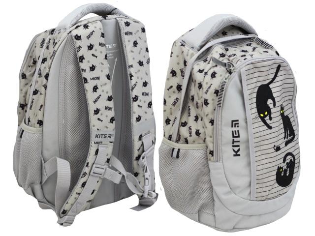Рюкзак Kite Education 40*30*17.5см Черный кот серый K20-855M-2