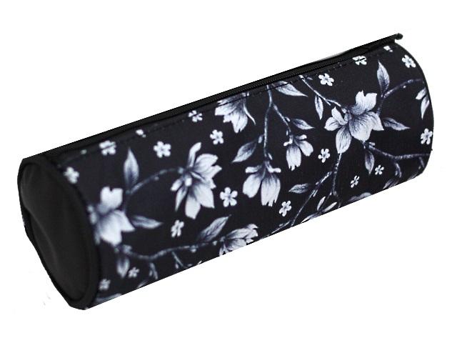 Пенал-косметичка Kite Белые цветы черный K20-640-6