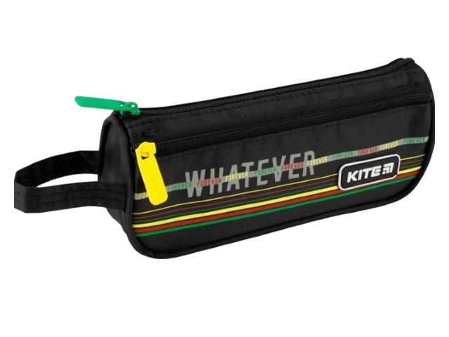 Пенал-косметичка Kite Whatever черный с карманом K20-643-1