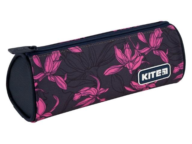 Пенал-косметичка Kite Розовые цветы серый K20-667-1