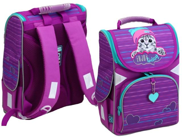 Ранец школьный Kite GoPack Education Cat 34*26*13см фиолетовый GO20-5001S-5