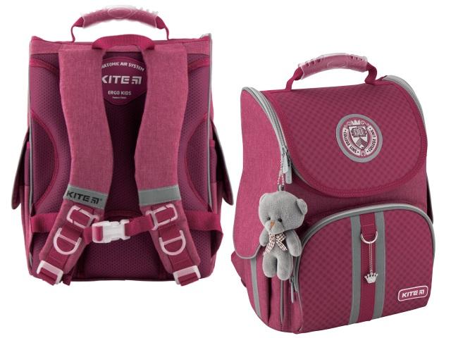 Ранец школьный Kite Education College line 35*25*13см розовый + игрушка K20-501S-10