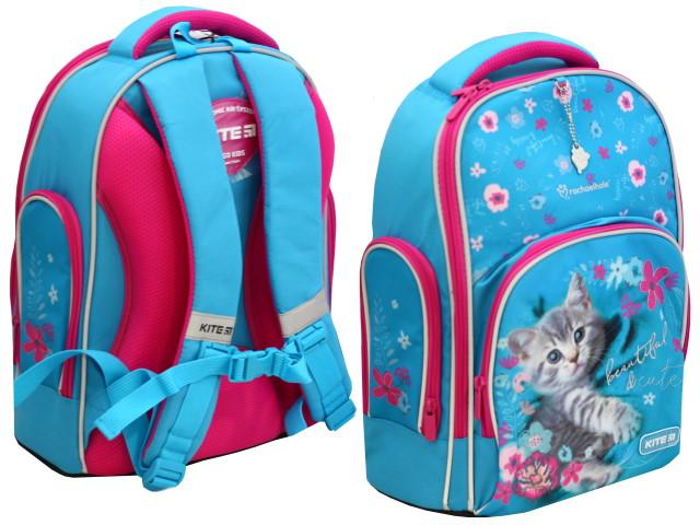 Ранец школьный Kite Education Котенок 38*29*16.5см голубой R20-706M