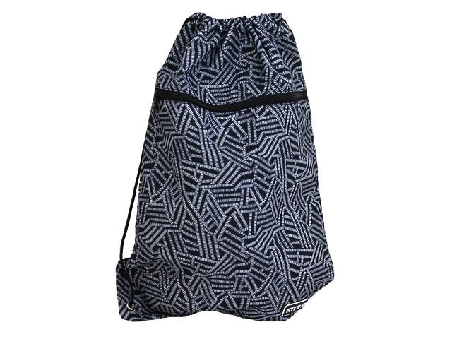 Сумка для обуви с карманом Kite Геометрия 49*36см черная K20-601L-8