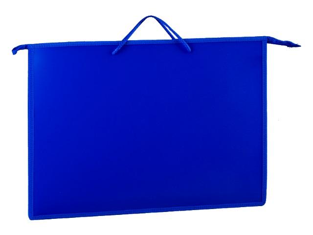 Папка на молнии А3 345*465*50мм с карманом темно-синяя ПР3 47403