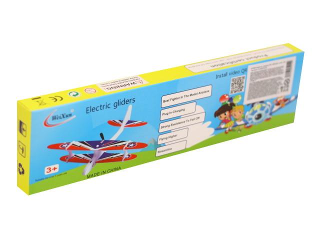 Сборная модель Самолет EVA с минимотором на USB микс FLR2679-64