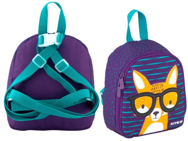 Рюкзак детский 2020 Kite Kids Smart Fox 21*18*8см фиолетовый K20-538XXS-1