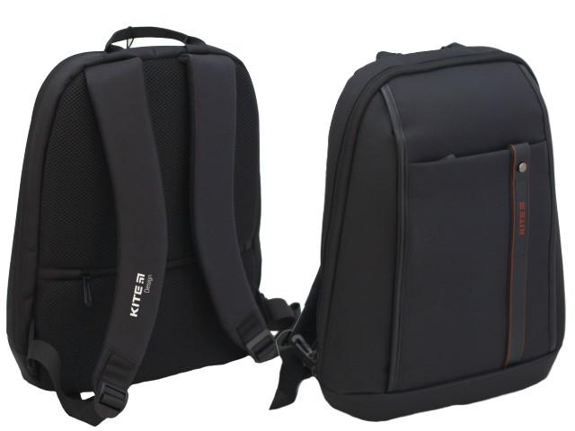 Рюкзак Kite City 37.5*27*9см под ноутбук черный K20-2567S