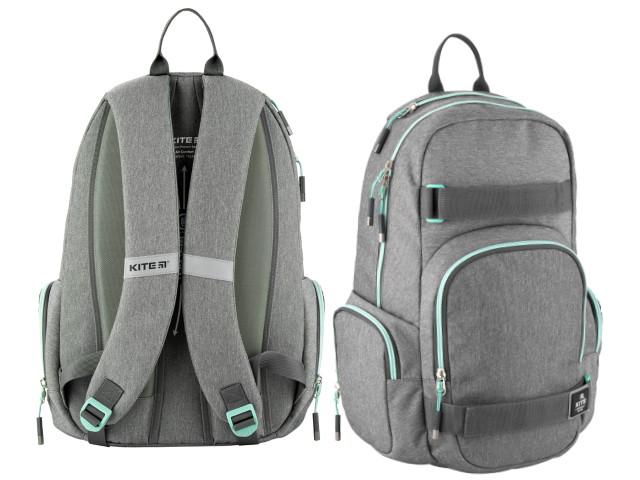 Рюкзак Kite City 46*31*18см серый K20-924L-1