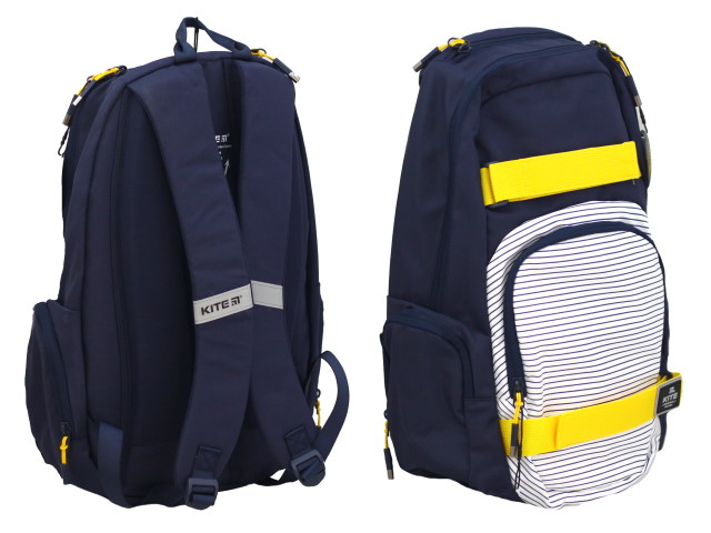Рюкзак Kite City 46*31*18см синий в полоску K20-924L-2