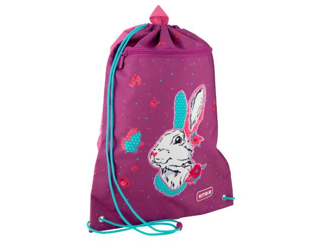 Сумка для обуви с карманом Kite Bunny 46*33см розовая K20-601M-7