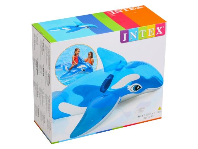 Игрушка надувная 163*76см с держателями Касатка Intex 58523
