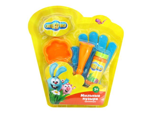 Пузыри мыльные с перчаткой Смешарики 50мл Играем вместе BB1868-50SME