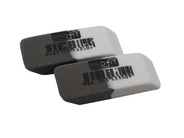 Ластик Profit бело-серый прямоугольный 40*14*8мм ЛС-3350