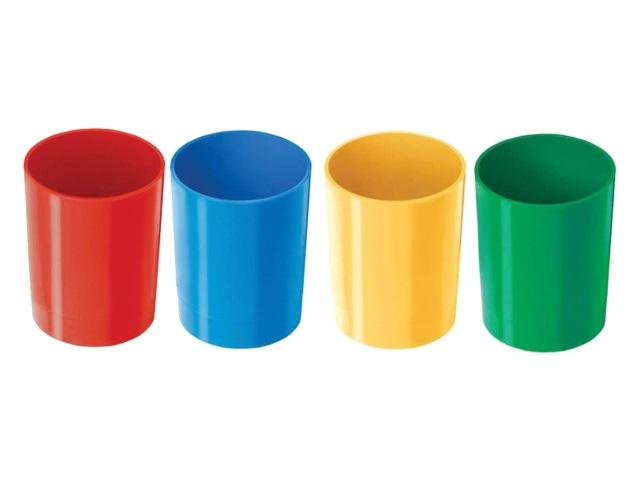 Стакан для ручек пластик Profit цветной круглый СП-6674