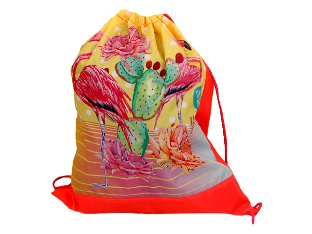 Сумка для обуви Prof Press Фламинго и кактус МО-6581