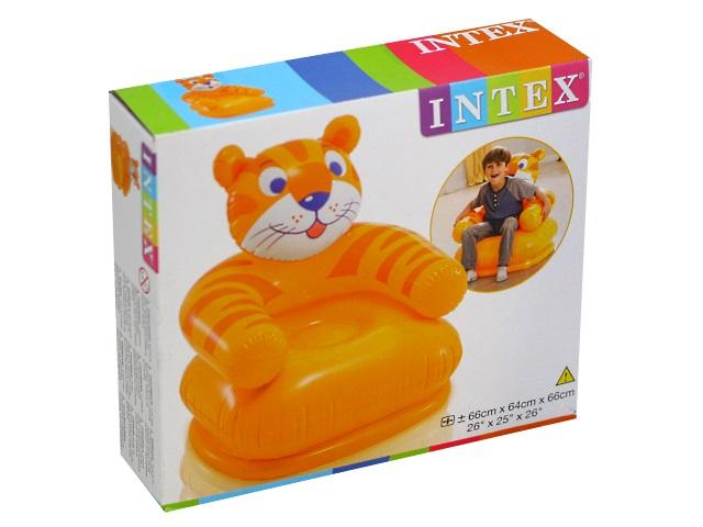 Кресло надувное Intex 65*64*75см Животные микс 68556