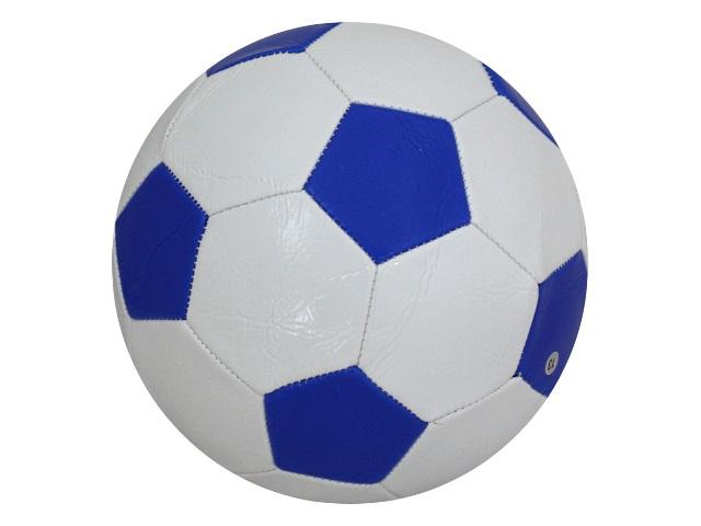 Мяч футбольный Рыжий кот бело-синий AN01090