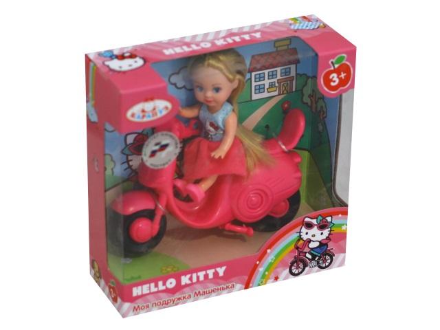 Кукла Машенька 12см со скутером Hello Kitty Карапуз MARY0116-BB-HK
