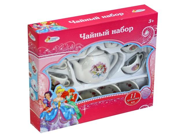 Посуда 11 предметов керамика Принцессы Чайный набор Играем вместе CH0034-R2