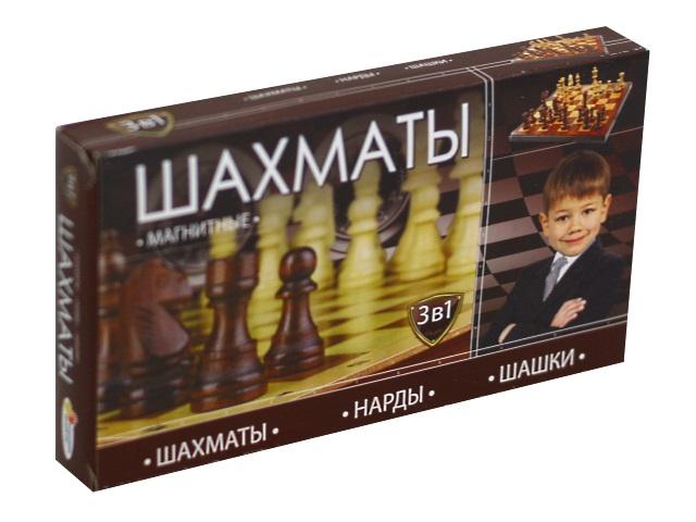Шахматы магнитные 3 в 1 Играем вместе G049-H37005R