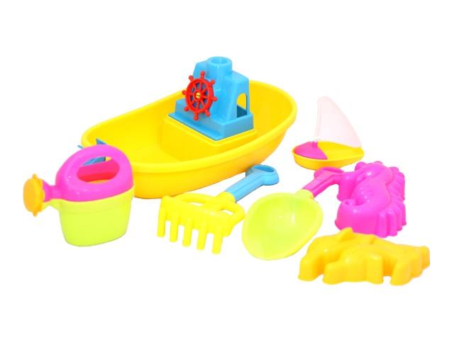 Песочный набор  6 предметов Кораблик-2 Рыжий кот 891114