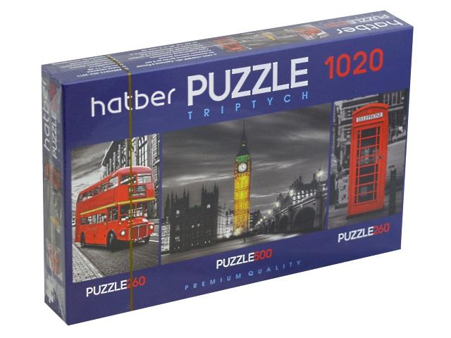 Пазлы комплект 3 в 1 Hatber Лондон Т1020ПЗ2_19095
