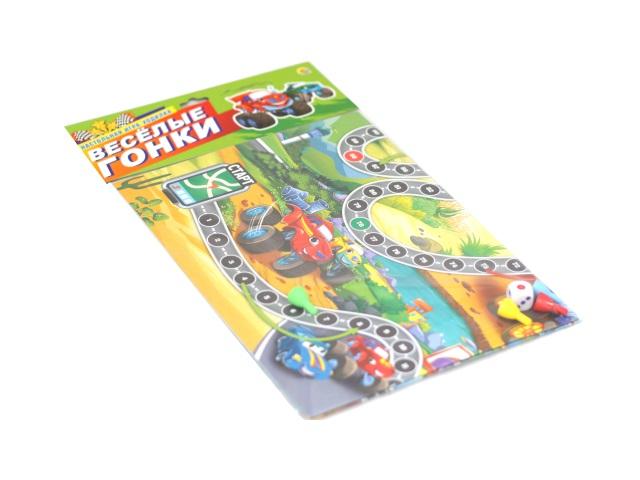 Настольная игра-ходилка Веселые гонки Рыжий кот ИН-7393