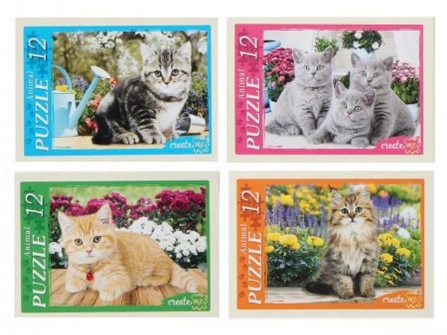Пазлы   12 деталей Рыжий кот Забавные котята П12-0619