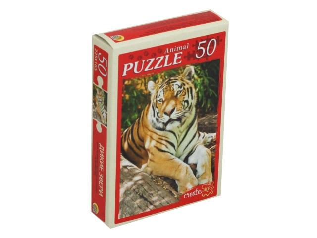 Пазлы   50 деталей Рыжий кот Дикие звери П50-5948
