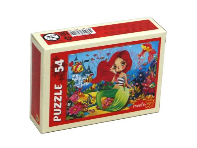 Пазлы   54 детали Рыжий кот Волшебные русалки №2 П54-2614